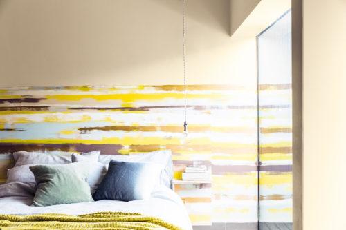 rufft randigt vägg sovrum